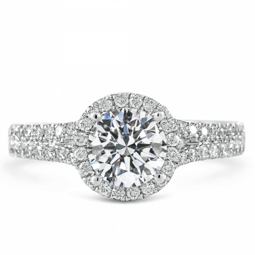 1.44ct Round Cut White Gold Diamond Engagement Ring