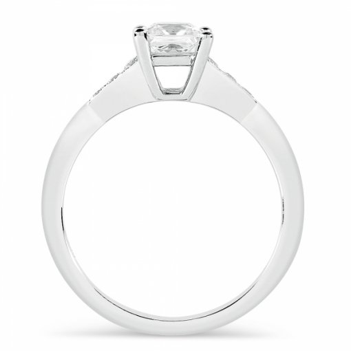 0.86ct Princess Cut White Gold Diamond Engagement Ring