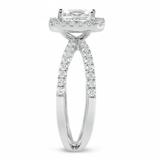 1.94ct Princess Cut White Gold Halo Diamond Engagement Ring