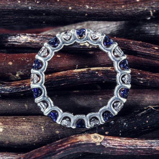 3.00ct Sapphire & Diamond Eternity Band