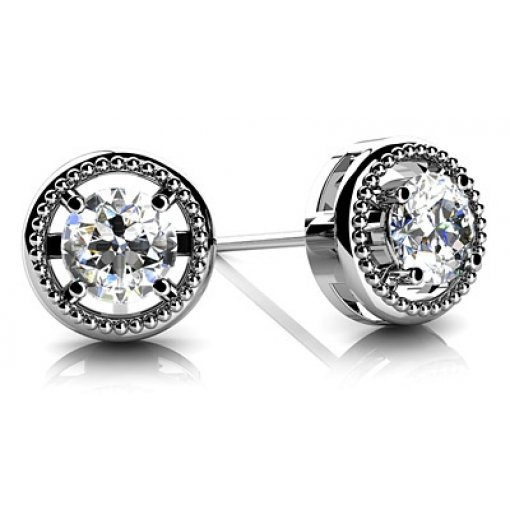 0.5 Carat Round Diamond Earrings