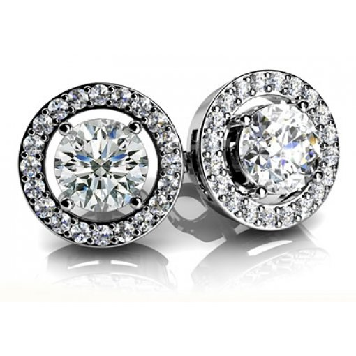 1.1 Carat Round Diamond Earrings
