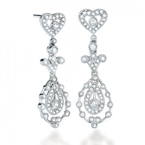 0.85 Carat  Diamond Earrings