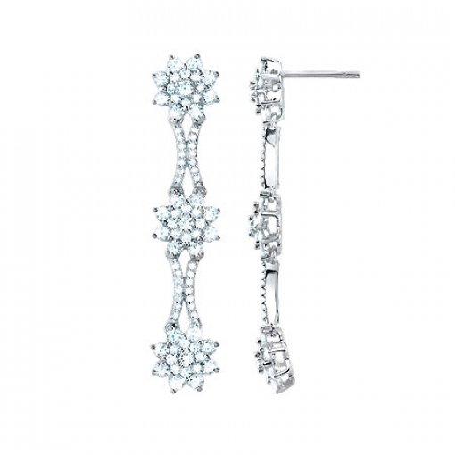 3.15 Carat  Diamond Earrings