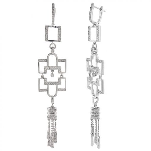 1.12 Carat  Diamond Earrings