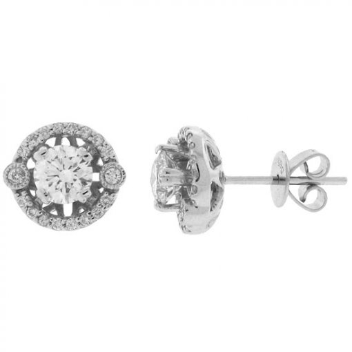 0.93 Carat  Diamond Earrings