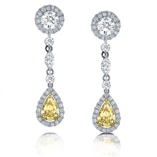 2.34 Carat  Diamond Earrings