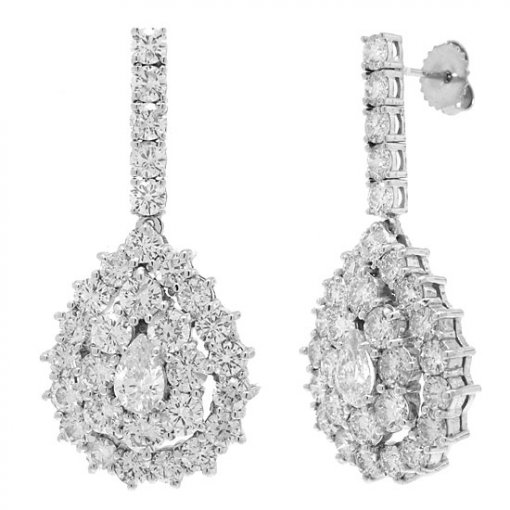 11.95 carat  Diamond Earrings
