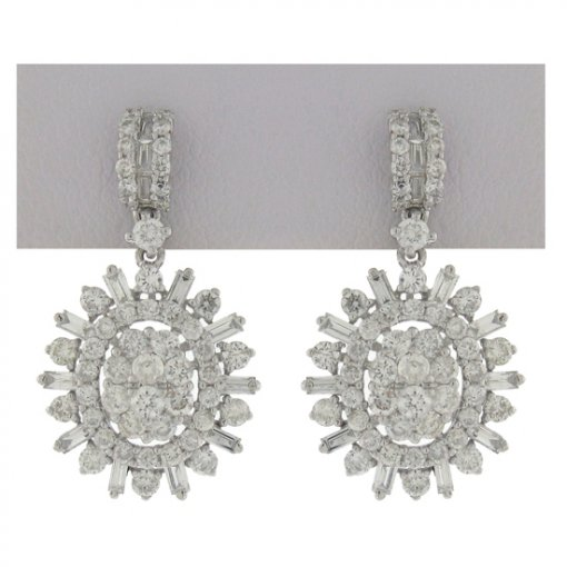 1.9 carat  Diamond Earrings