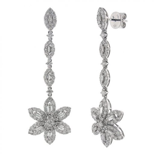 3.04 carat  Diamond Earrings