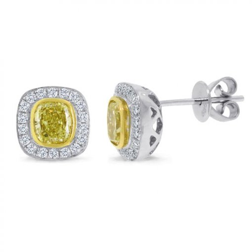 1.03 Carat  Diamond Earrings