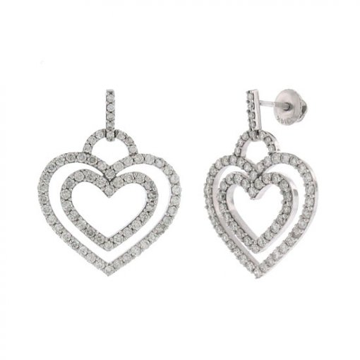 2.05 Carat  Diamond Earrings