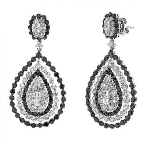 6.29 carat  Diamond Earrings