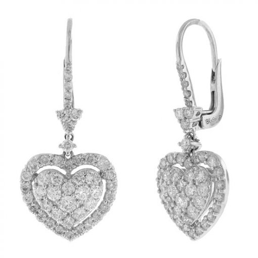 1.71 carat  Diamond Earrings