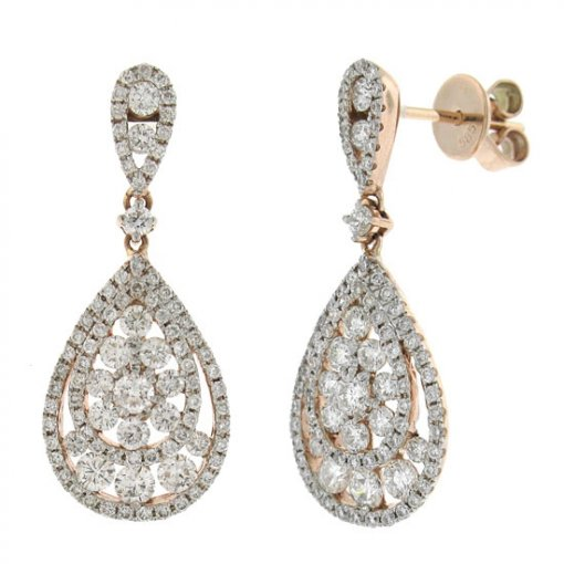 2.1 Carat  Diamond Earrings