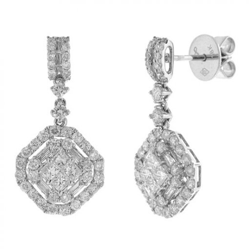 1.67 carat  Diamond Earrings
