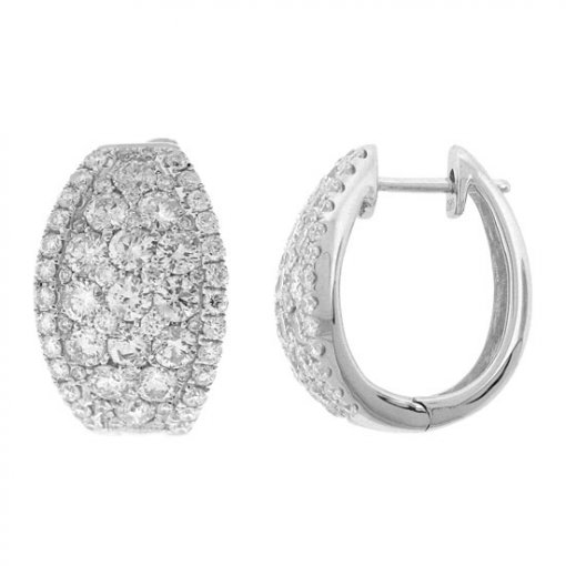 3.25 carat  Diamond Earrings