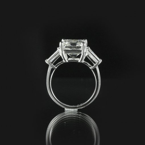 2.75ct GIA  18K White Gold Emerald Cut Diamond Engagement Ring H/VS1