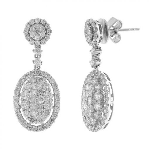 2.41 carat  Diamond Earrings