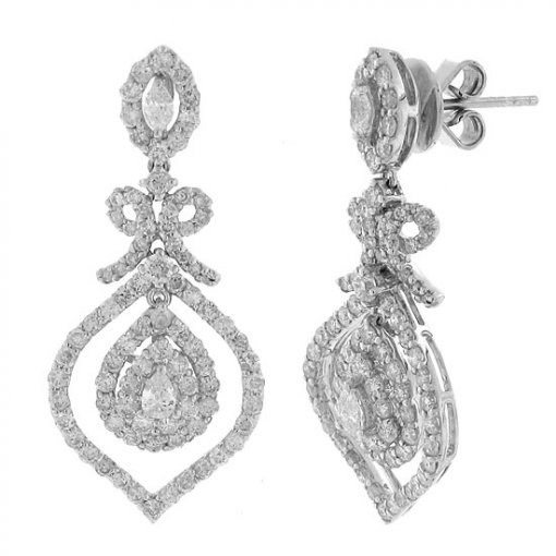 2.5 carat  Diamond Earrings