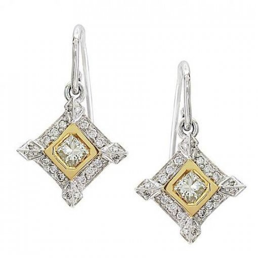 0.85 Carat Round Diamond Earrings