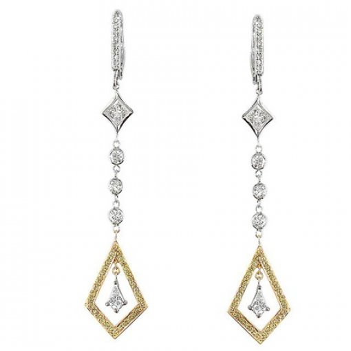 1.35 Carat Princess Diamond Earrings