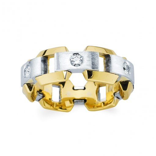0.3ct Men's Round Diamond Band