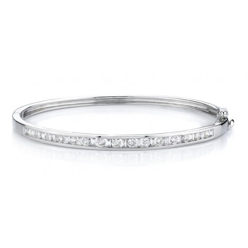 1.50ctw Women's diamond bracelet in 14k white gold