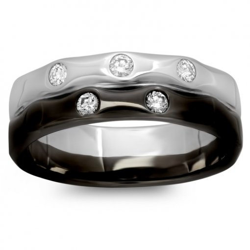 0.29ct Men's Round Diamond Band