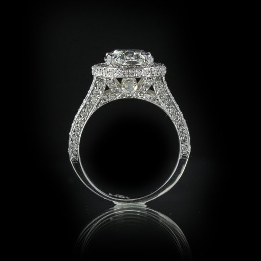 2.75ct GIA  18K White Gold Oval Cut Diamond Engagement Ring G/SI1