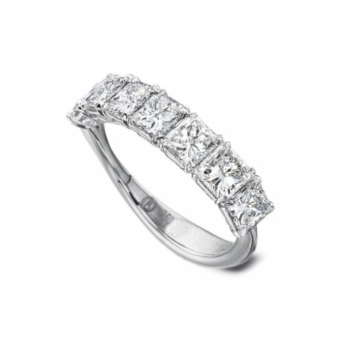 1.50ct 7 Stone Radiant Diamond Wedding Band