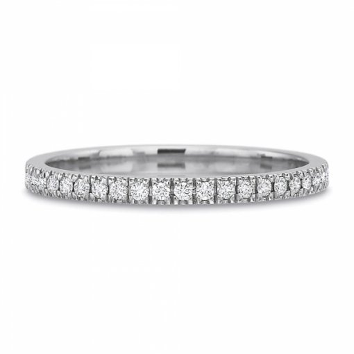 0.35ct Round Split Prong Set  Diamond Wedding Band