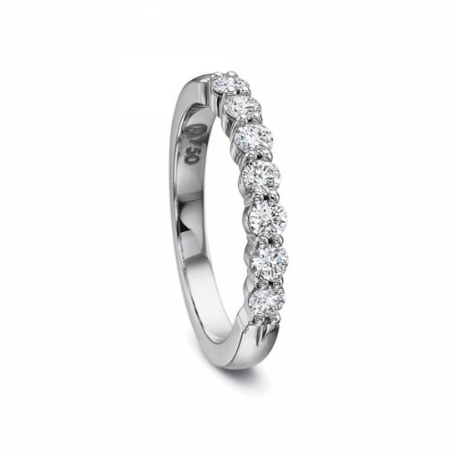 0.50ct 7 Stone Round Diamond Wedding Band