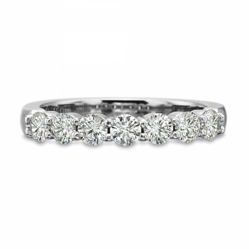 band set bands round baguette diamond channel wedding