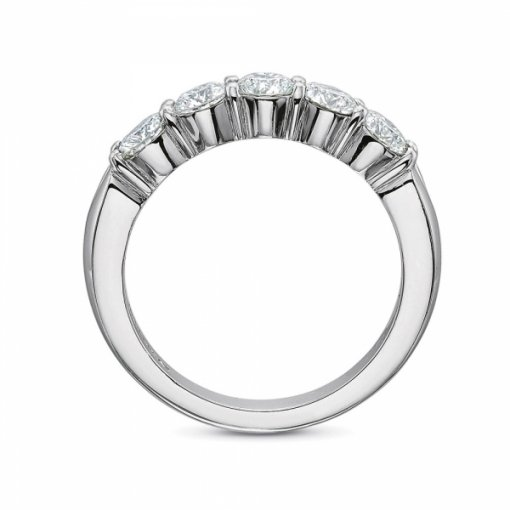 1.10ct 5 Stone Round Diamond Wedding Band