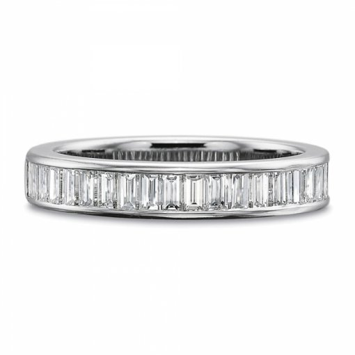 1.15ct Channel Set Baguette Diamond Band (Half way)