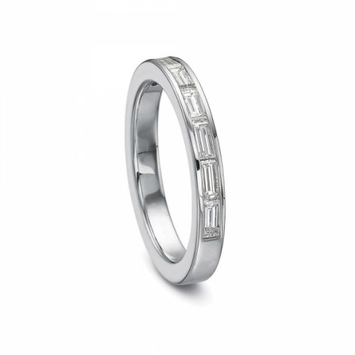 0.80ct Channel Set Baguette Diamond Band (Half way Horizontal)