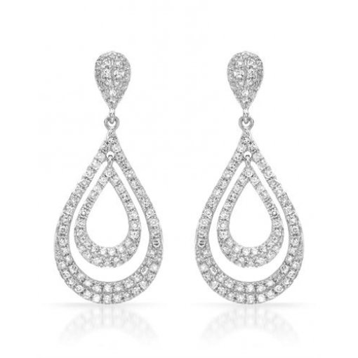 0.7CT  Round 14KW 0.70Tw Diamond Earrings(-G-H/SI1-SI2 Sc) G-H/SI1-SI2 ()