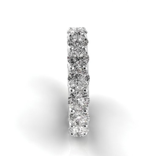 5 TCW Round Diamond U-Prong Set Eternity Band in White Gold (G-H COLOR, VS2 CLARITY)