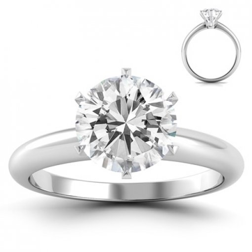 Tiffany Style Solitaire Engagement