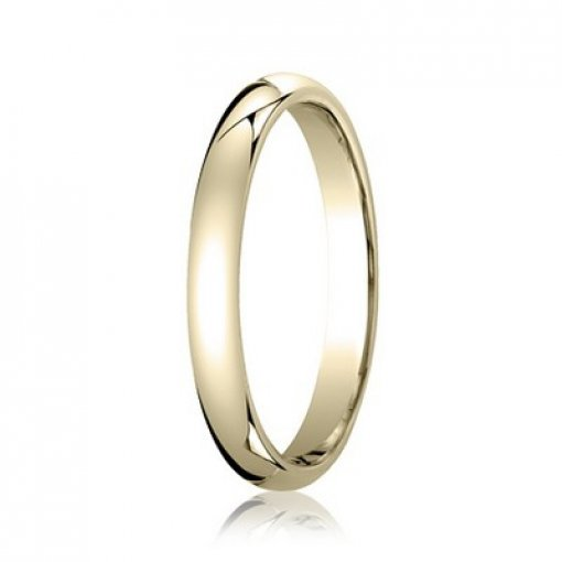 Benchmark 2mm Comfort Fit 14K Yellow Gold Plain Wedding Ring Band