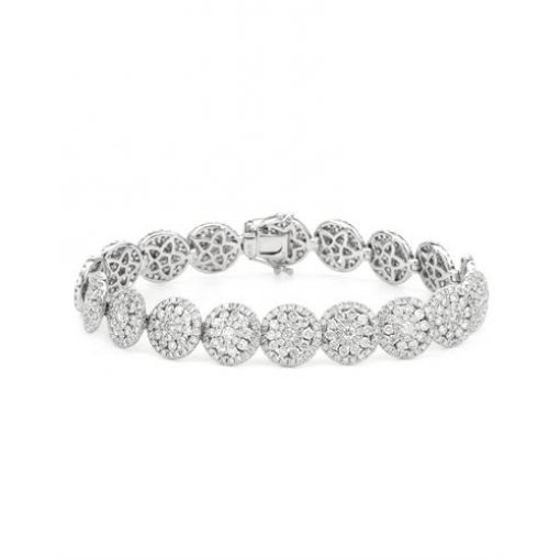 Women's High Quality 8.23ctw diamond bracelet in 14k white gold