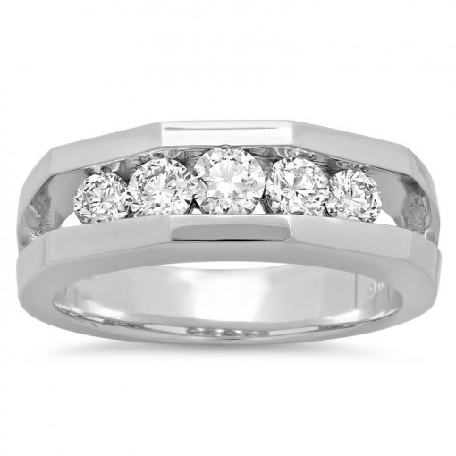 0.35ct Men's Round Diamond Band
