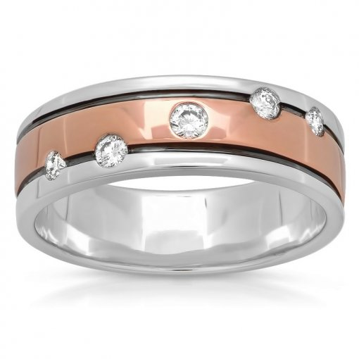 0.25ct Men's Round Diamond Band