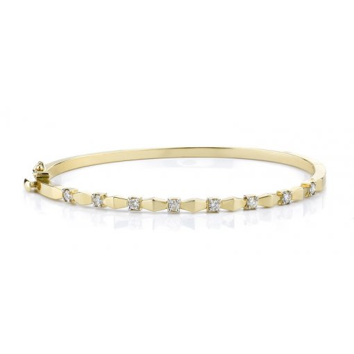 0.50ctw Women's diamond bracelet in 14k yellow gold