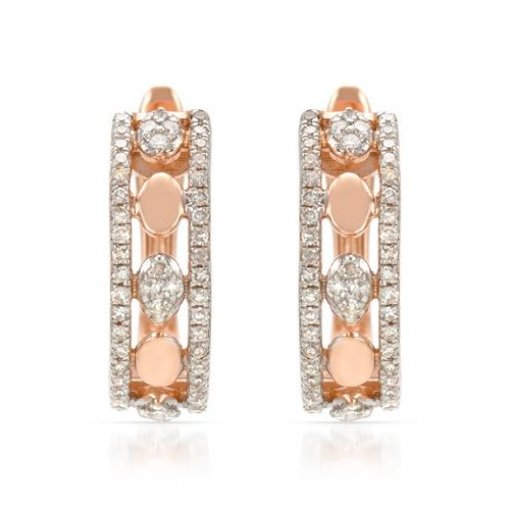 0.28CT  Round 14Kr 0.28CT Tw Diamond (-G-H/SI1-SI2) Earrings G-H/SI1-SI2 ()