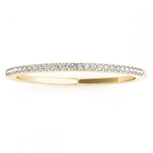 0.09ct Round Micro Shared Prong Diamoind Wedding Ring