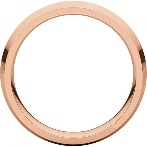 14K Rose Gold Gold 5mm Comfort Classic Knife Edge Wedding Band