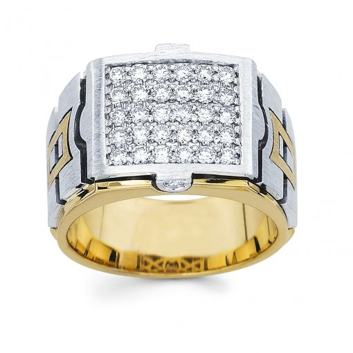 1.05ct Men's Round Diamond Band