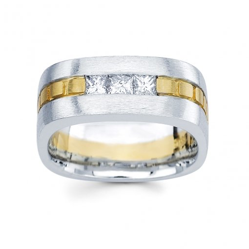 0.66ct Men's Princess Diamond Band